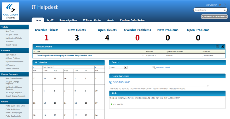 It Sharepoint Helpdesk Tickets