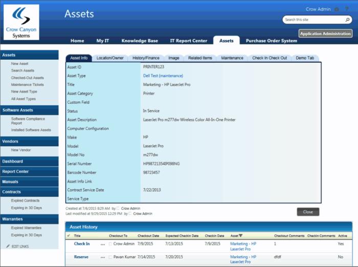 SharePoint Asset Workflow