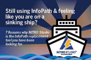 InfoPath vs. NITRO Studio infographic