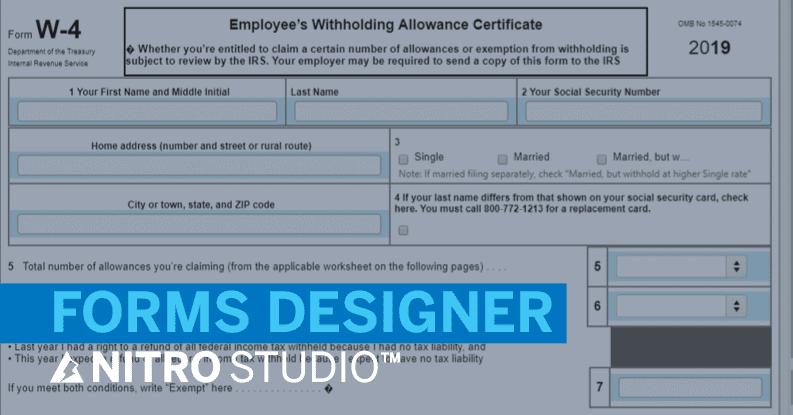 NITRO Forms Designer