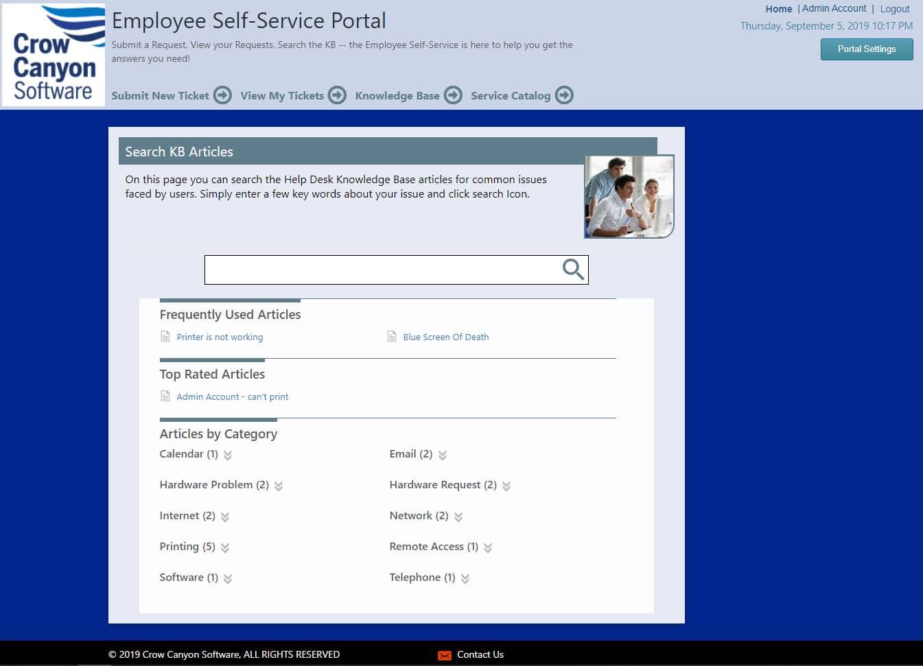 Employee Portal Knowledge Base