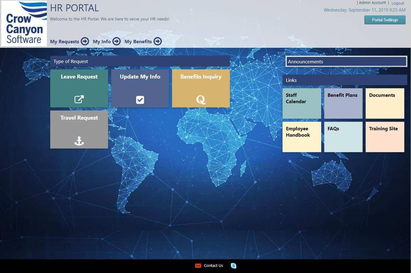 HR Portal Screen Shot