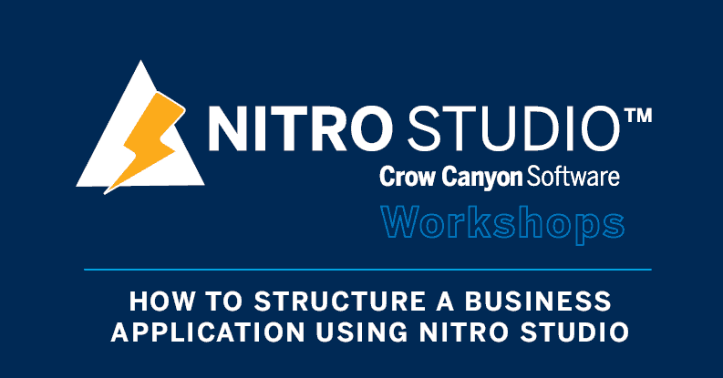 How to Stucture a Business Solution with NITRO Studio