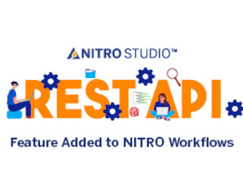 REST API Feature Added to NITRO Workflows