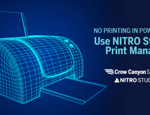 No Printing in Power Apps? Use NITRO Studio's Print Manager