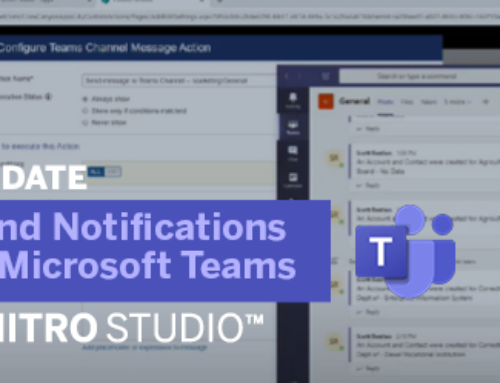 Update to NITRO Studio: Send Notifications to Microsoft Teams