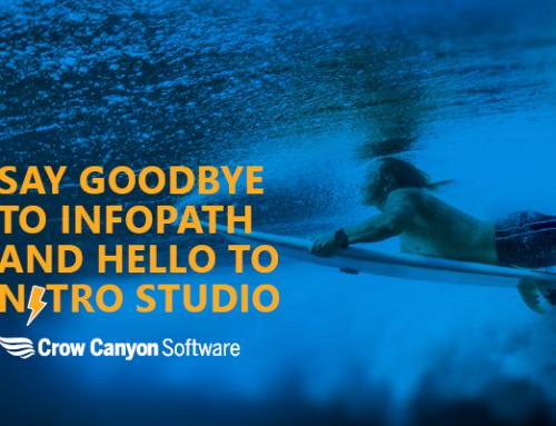 Say Goodbye to InfoPath, and Hello to NITRO Studio